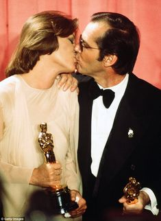 Jack Nicholson and Louise Fletcher became the talking point at the 48th Academy Awards in ...