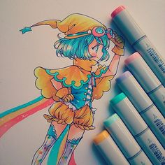 """PAINTED WHITE PENCIL COPIC SKETCH"""
