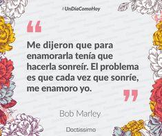 #UnDíaComoHoy pero de 1945, nace el músico, guitarrista, compositor jamaicano y el más conocido intérprete de la música reggae, Bob Marley. #frases #frasesdeamor #sonrisa #amor #bobmarley