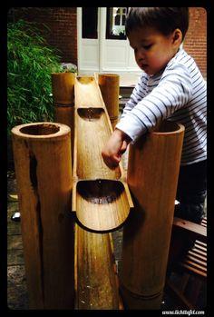 Waterbaan van indonesische bamboe