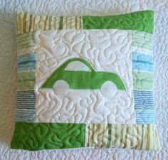Riona: Poducha patchwork z autem i coś jeszcze. Pillow with car
