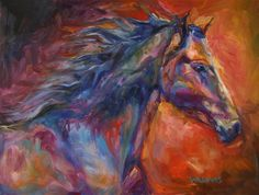 Blue Spirit - By Equine Artist Diane Williams