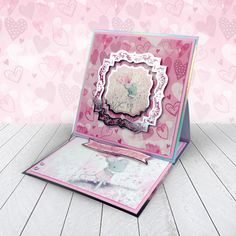 Card created using Hunkydory Crafts' A Mice Adventure Craft Stack Kanban Crafts, Handmade Birthday Cards, Handmade Cards, Hunkydory Crafts, Shaped Cards, Easel Cards, Love Craft, Heartfelt Creations, Card Maker