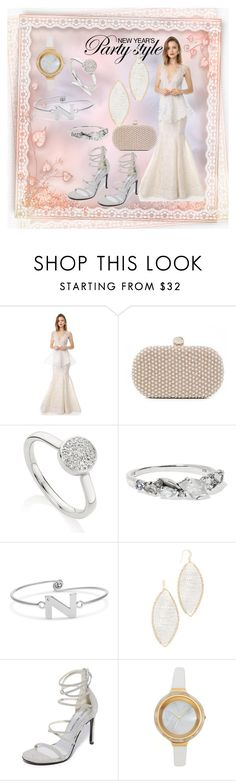 """NEw Year PArty Style"" by paige-brrian ❤ liked on Polyvore featuring Marchesa, Santi, Monica Vinader, Alexis Bittar, Theia Jewelry, Stuart Weitzman and RumbaTime"