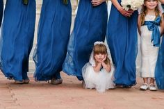 cute angle/pose of flower girl(s)