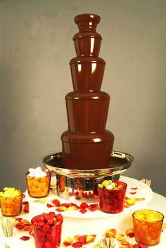 Fondue de chocolate.