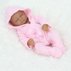 Cheap toy life, Buy Quality toy dolls songs directly from China doll stuff Suppliers:  28cm Eyes Closed Sleeping Babies African American Baby Doll Girl Full Silicone Reborn Babies Dolls Ethnic Alive Dolls&n