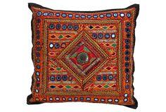 "Gujarati Embroidery  Pillow  -  DE-COR  -  16"" x 16""  -  OneKingsLane.com  -  ($249.00)  $69.00"