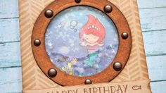 UNDER THE SEA CARD SERIES || The Little Mermaid || Water Shaker Card
