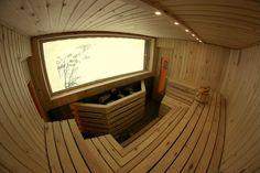 Original finnish sauna with a spectacular view towards Salbit and Schöllenen. Andermatt, Finnish Sauna, Hostel, The Originals, Mirror, Furniture, Home Decor, Bar, Decoration Home