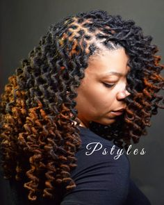 """""""Retwist and curls by Pstyles."""