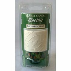 Balsam and Cedar Electric Home Fragrance Unit by Yankee Candle by Yankee Candle Company. $13.00. About This Fragrance Balsam, aromatic cedar wood, and juniper berry blend together in a fresh forest scent. About Electric Home Air Fresheners: Enjoy authentic Yankee® fragrance in any room, any time! With adjustable intensity up to 6 weeks of fragrancing, this UL listed unit plugs into any standard 120 volt outlet (vertical or horizontal). Includes heating unit, sha...
