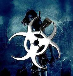 Resident Evil Pendant Necklace Bio Hazard Waste Symbol Silver gamer goth geek Jewelry Video Games