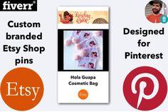 Custom #Pinterest Pins designed for your #Etsy Shop & Products! #Fiverr https://www.fiverr.com/eeb2010/create-custom-branded-pinterest-pins-for-your-etsy-shop