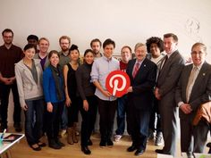 Iowa Governor Branstad makes a stop at Pinterest HQ in Palo Alto !  #Pinterest #Iowa #silconprairienews