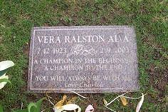 Vera Ralston - Czech figure skater and actress. She later became a naturalized American citizen. She worked as an actress during the and 1936 Olympics, Cemetery Decorations, Famous Graves, Famous Women, Figure Skating, In Hollywood, Actresses, Ice, Graveyards