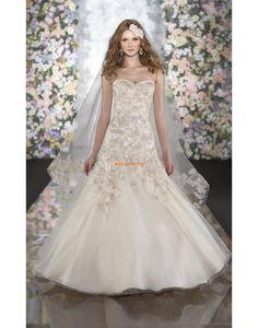 Herz-Ausschnitt Tülle Glamourös & Dramatisch Brautkleider 2014