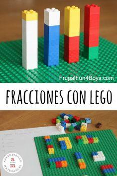 Fracciones y lego bien emparejados Lego Math, Fun Math, Math Activities, Fractions Worksheets, Math Fractions, Legos, Decimal Games, Operations With Fractions, Printable Math Games