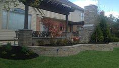 raised patio, pergola, Patio, Walls & Courtyard