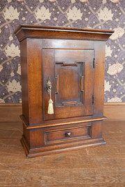 antique furniture oak wall cabinet @Sue Wood