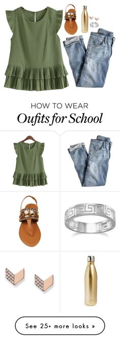"""ahhh made this on my new computer my school gave me"" by lillynelsonn on Polyvore featuring J.Crew, S'well, FOSSIL and BillyTheTree"