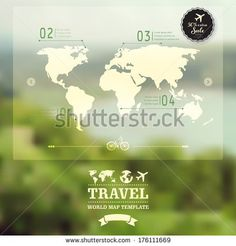 Vector blurred natural landscape.  Map on blurry background. Identity. Travel, enjoy nature concept. Web, mobile interface template. Corporate website design. Backdrop. Blurred