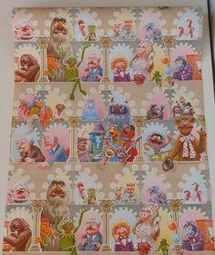 RARE Vintage Jim Henson's The Muppets Roll of Wallpaper SEALED RARE   eBay