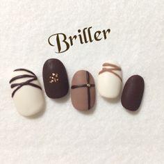 【再販15】チョコネイル  マット