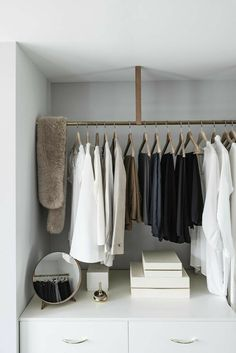 Wardrobe Storage, Wardrobe Rack, Exposed Closet, Wardrobe Design, Apartment Furniture, Home Staging, My Room, Modern, Sweet Home