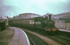 PORTLAND VICTORIA STATION, DORSET.  3.1952 (LAST DAY OF SERVICE.)  LOCO; 30177 Weymouth Harbour, Weymouth Dorset, British Rail, Steam Locomotive, Brighton, Portland, Abandoned, 1950s, Engine