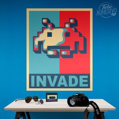 Vinilos Decorativos: Póster adhesivo Invader Obama Style #poster #space #invaders #videgame #videojuego #lámina #vinilo #TeleAdhesivo Space Invaders, Movie Posters, Fictional Characters, Game, Adhesive, Vinyls, Stickers, Illustrations, Fotografia