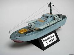 Paper model torpedo boat T-142