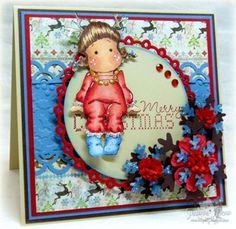 Reindeer Tilda from Magnolia stamps