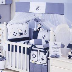 Azul marinho: romantismo Quarto completo Marinheiro Azul: http://www.graodegente.com.br/quarto-completo/quarto-para-bebe-marinheiro-azul-azul/?utm_source=pinterest&utm_medium=board&utm_campaign=cores-marinho