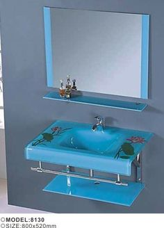 Competitive Price Simple Design Bathroom Furniture Wall Mounted Glass  Washbasin, View Glass Washbasin, Neway