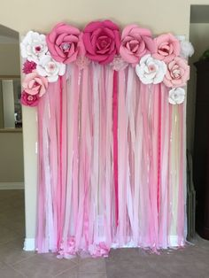 71 DIY Baby Shower Decoration For Baby Girl - Babyshower Pink Cake Ideen Deco Baby Shower, Baby Shower Backdrop, Baby Girl Shower Themes, Baby Shower Photos, Simple Baby Shower, Baby Shower Princess, Baby Shower Balloons, Baby Boy Shower, Girl Baby Shower Cakes