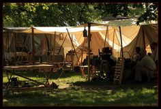 Camp @ Civil War Reenactments - Greenfield Village, Michigan