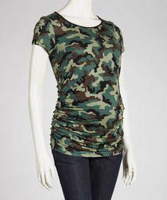 5b55f81c938 Take a look at this Camo Maternity Scoop Neck Short-Sleeve Top - Women by