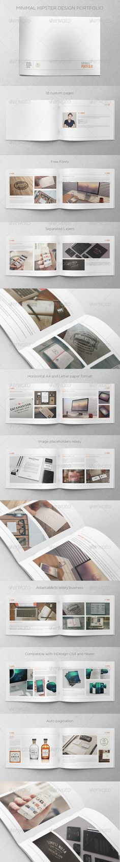Minimal Hipster Design Portfolio - Print Templates
