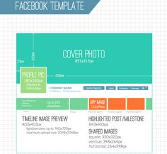 Facebook page template for image sizes (2014) - Inside Facebook #infographics