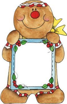 santa clip art santa sign clip art santa peeking over a blank rh pinterest com  gingerbread man border clipart free
