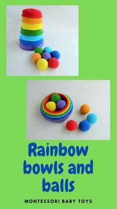Montessori rainbow stacker. Eco friendly educational toys. Montessori materials for memory game. Educational Games For Toddlers, Educational Toys, Organic Baby Toys, Montessori Baby Toys, Baby Christmas Gifts, Montessori Materials, Memory Games, Gender Neutral Baby, Fine Motor Skills