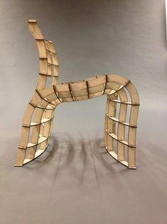 Lasercut 30 minutes pour une chaise par Frederik Alexander Werner
