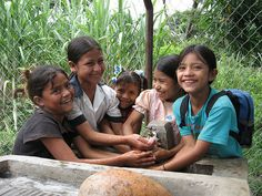Did you know that today, every 20 seconds a child dies from a water related disease? Two years ago a child died every 15 seconds. That means, our efforts are making a difference. @Water.org (Children at new school tap by waterdotorg, via Flickr)