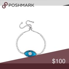 .925 sterling silver adjustable evil eye bracelet Product Details:  ►metal: .925 sterling silver ►Plated: Rhodium Plated ►Adjustable using sliding clasp, fits all wrist sizes. Casa di Bling Jewelry Bracelets