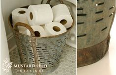 FOUND Vintage Olive Basket - decor steals (one deal a day)~Enjoy Today's Steal from DECOR STEALS