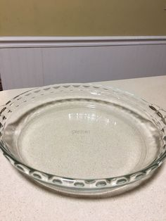 Pyrex Deep Dish Pie Plate Pan Fluted Edge w Handles 229 9 1 2 034 Clear & Vintage Pyrex 229 9 5 034 Amber Glass Fluted Scalloped Edge Deep ...