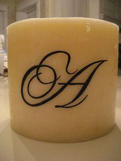 DIY Monogrammed Candles {12 Days of Handmade Christmas}