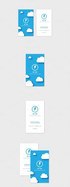 Cloud Logo Design Business Card