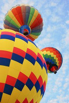 Balloons at the Balloon Festival in Lewiston, Maine